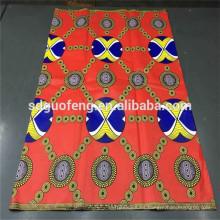 Venta caliente de alta calidad de algodón impreso tela africana cera