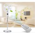 Ventilador de pie eléctrico de 16 pulgadas 6 cuchillas con pantalla LED