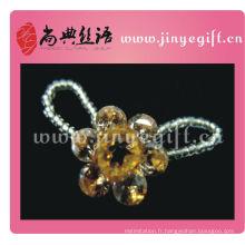 Gros jaune fleur bijoux en cristal bijoux bague
