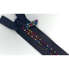 Fashion Diamond Zipper Open or Closed End, Custom Color (#8)
