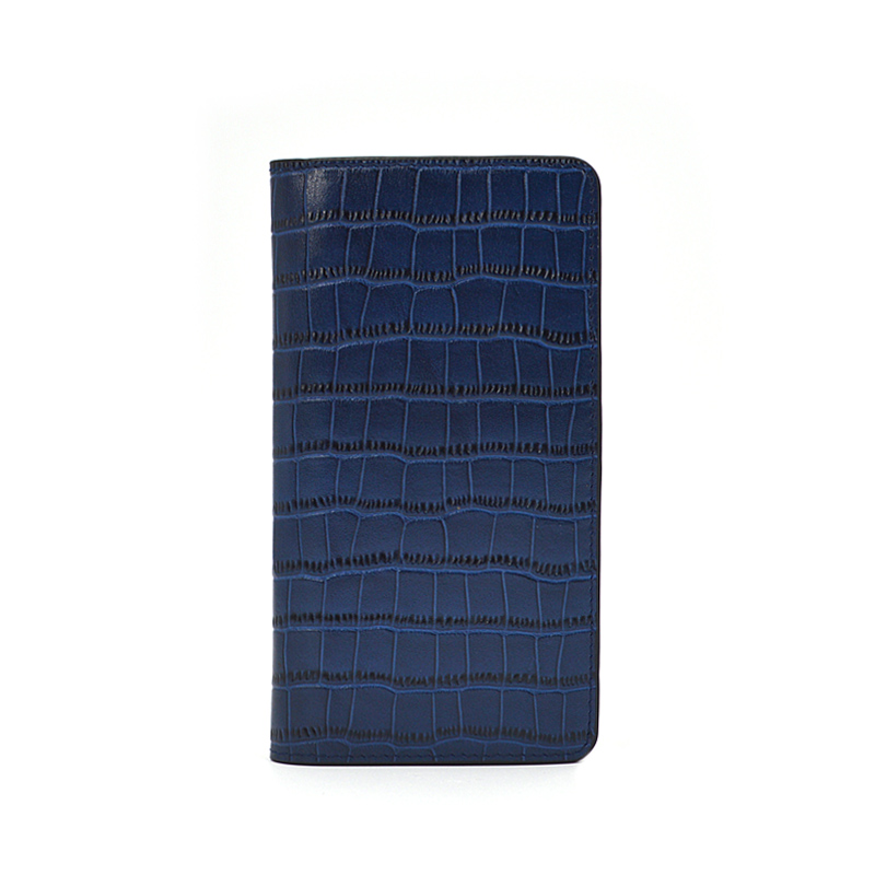 Blue Crocodile Leather Phone Case for Iphone 11