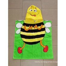 Los niños Poncho toalla de 100% algodón