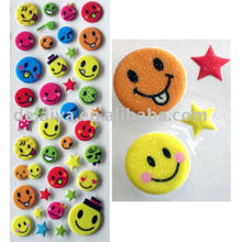3d Glitter puffy smiley stickers