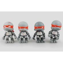 Gris Personalizada adolescente figura de acción mutante PVC Ninja tortugas juguete