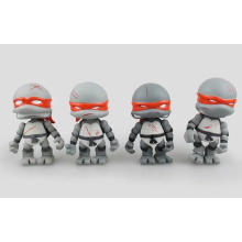 Grey Customized Teenage Action Figure Mutant PVC Ninja Turtles Toy