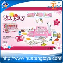 Дети Пластиковые супермаркет Play Установить игрушка кассовый, Супермаркет Касса Регистрация игрушка с корзиной H123620