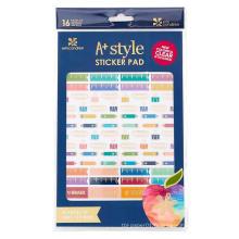 Autocollants décoratifs colorés faits sur commande de planificateur de tâches / calendrier / journal, notes collantes