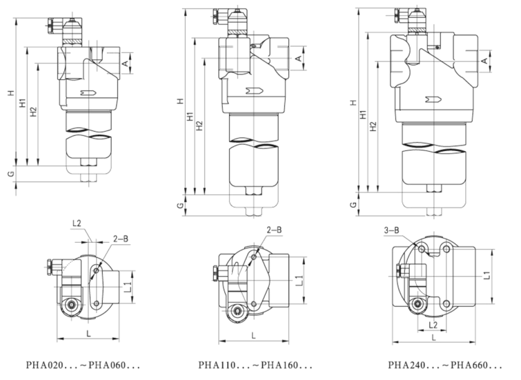 PHA high pressure filter drawing