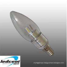 3W E14 LED Bulb Aluminum Base in Silver Color