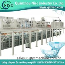 Full Servo I Shape Adult Diaper/Adult Incontinence Product Making Machine