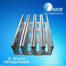 canal de puntal ranurado / canal c / canal unistrut