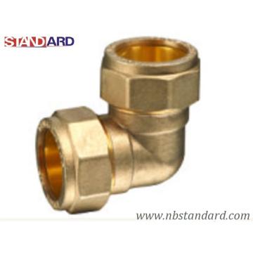 Raccord en laiton / compression et ajustage de presse / Raccord en cuivre / coude de compression