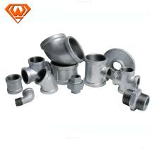 accesorios de tubería de tubo de hierro fundido negro / galvanizado maleable