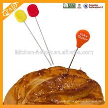 Ferramenta de design de bolo cabeça de silicone, testador de bolo de alimentos-grau