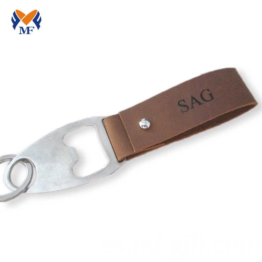 Leather Keychain Bottle Opener