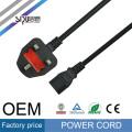 Высокое качество оптовая СИПУ кабель 220В к предохранителю компьютер электромашиностроительный переменного тока Великобритании подключите шнур питания