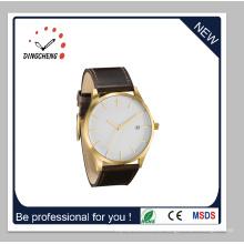 Reloj de pulsera casual de la nueva venta caliente 2015 con la correa de cuero (DC-1415)
