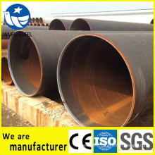 Black structure circle steel pipe for building material
