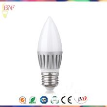 Pas cher LED C37 Die-Casting ampoule en aluminium 5W / 7W / 9W E27