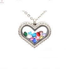 Красивые формы сердца изготовленный на заказ свадебные Аллах медальон кулон ювелирные изделия
