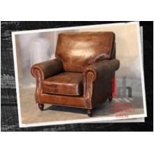 Sofá solo de color marrón