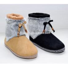 2015 моды дамы мех антискользящий единственной bowknot середине теленок зимой сапоги