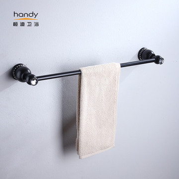 Barisan Brass Single Lacquer Brush Towel Bar