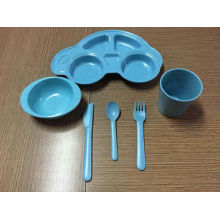 (BC-CS1070) Conjunto de utensílios de mesa de bambu para crianças