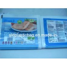 Saco de vácuo de tubo de plástico de 2 lados para embalagem de alimentos