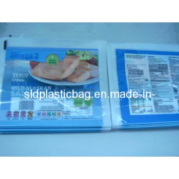2-сторонняя печать Пластиковая трубчатая вакуумная сумка для упаковки пищевых продуктов