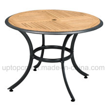 Plywood Outdoor Restaurant Round Table with Aluminum Base (SP-AT321)