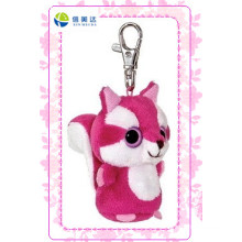 Fashion Pink Cat Keychain Plush Toy