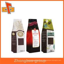 Guangzhou fábrica de novos produtos quentes papel kraft stand up sacos de café personalizado com mais de dez anos de experiência de exportação