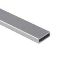 Perfis de alumínio em formato oval / Extrusão de alumínio Tubo oval de alumínio anodizado