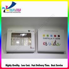Alta calidad con la caja del teléfono de papel plegable de la ventana del PVC que empaqueta
