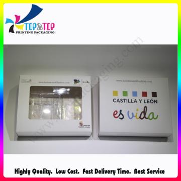 Alta qualidade com PVC Janela Folding Paper Phone Case Embalagem