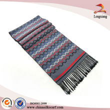 Classic Men Silk Brushed Fancy Color Scarf