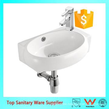 Ceramic Sanitary ware Small corner Wash basin