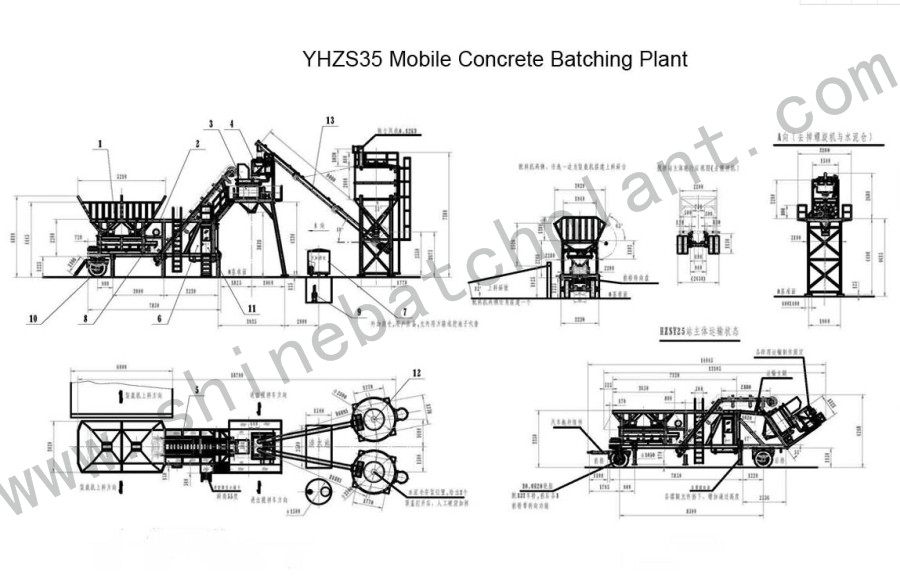 Drawing Mobile Batch Plant 35