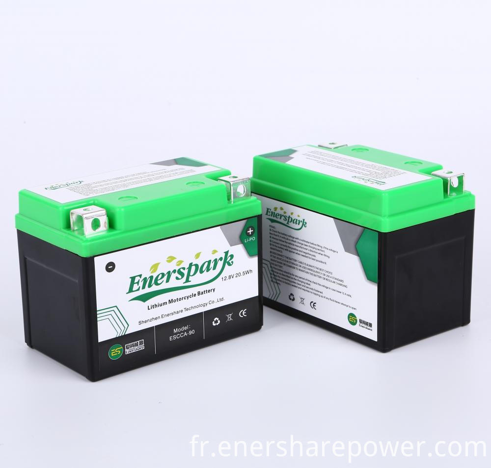 motorcycle start battery 12.8V
