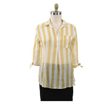 Neue Bluse Frauen Casual Striped Top Shirts Bluse