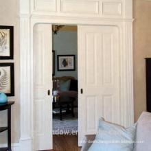 solid oak/pine wood pocket sliding door with locks for closet
