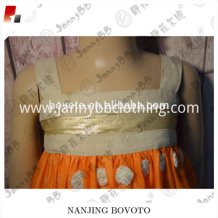 orange dots dress03