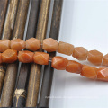 DIY Orange Helical Jewelry Semi Precious African Helical Jade Beads