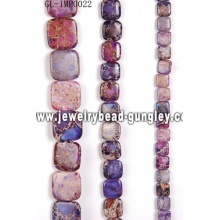 Природные ювелирные изделия Бисер навалом с окрашеных цветом для DIY