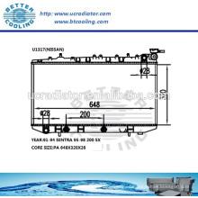 Radiador de agua para Nissan Sentra 91-94 / 200 SX 95-98 OEM: 2141058Y01 2141059Y01