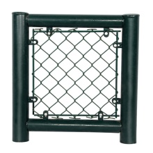 double leaf blue vinyl coated chain link fencing
