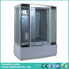 Rectangle Steam Shower Cubicle with Sliding Glass Door