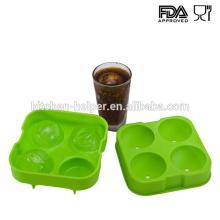 Atacado impermeável verde gelo bolas máquina molde bandeja bolha