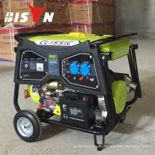 BISON (CHINA) Fábrica de Taizhou 2kw 3kw 4kw 5kw 6kw Generador eléctrico de la gasolina Generador eléctrico portable